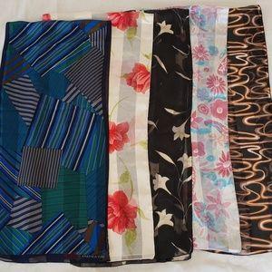 Jones New York sheer scarves Lot of 5